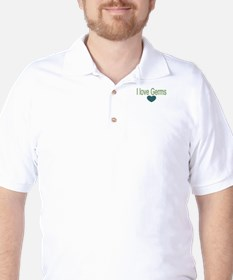 I love Germs Golf Shirt