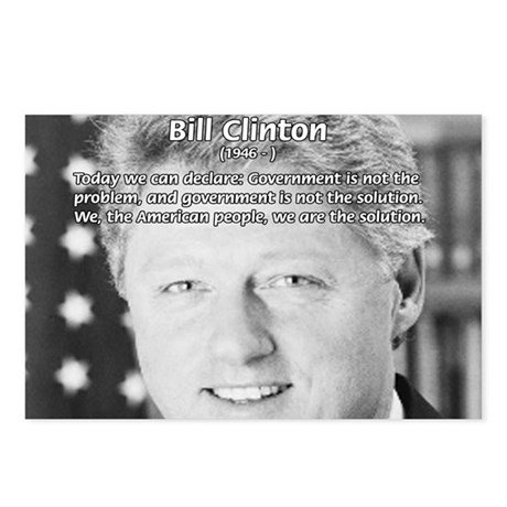 Government Bill Clinton Postcards (Package of 8)