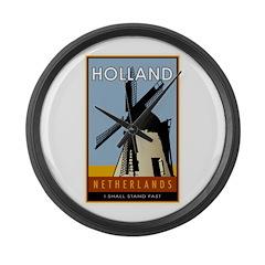 Netherlands Large Wall Clock