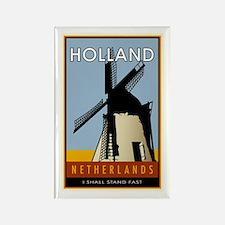 Netherlands Rectangle Magnet