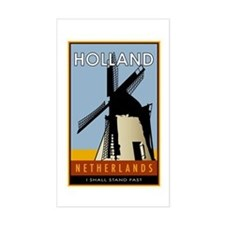 Netherlands Rectangle Stickers