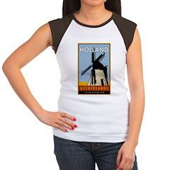 Netherlands Women's Cap Sleeve T-Shirt