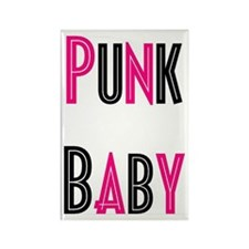 Punk Baby Rectangle Magnet
