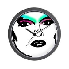 Drag Queen Stencil Wall Clock