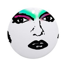 Drag Queen Stencil Ornament (Round)