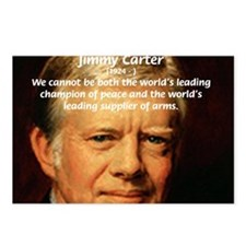 War and Peace: Jimmy Carter Postcards (Package of