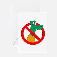 Anti-Gators Greeting Cards (Pk of 10)