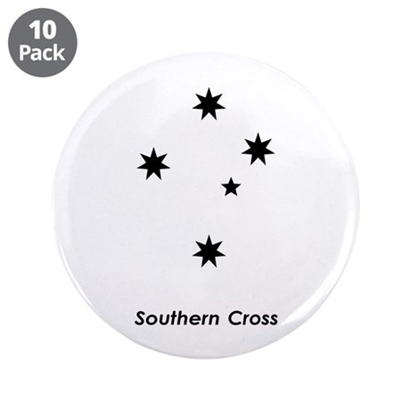 """Southern Cross 3.5"""" Button (10 pack)"""