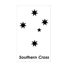 Southern Cross Rectangle Stickers