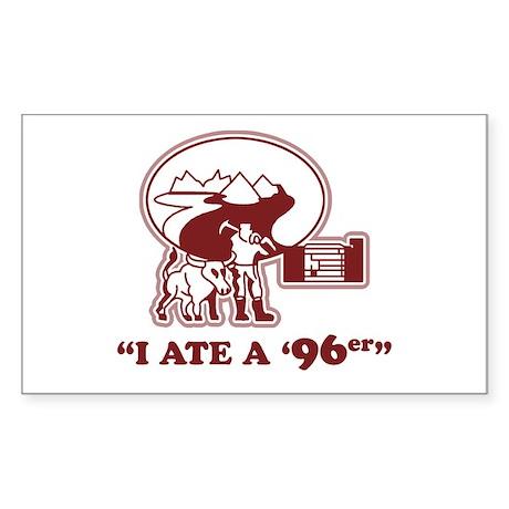 I Ate a 96er Rectangle Sticker