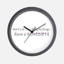 Funny Attachment parenting Wall Clock