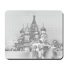 St. Basil's Mousepad (B&W)