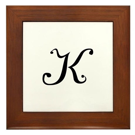 Initial K Framed Tile