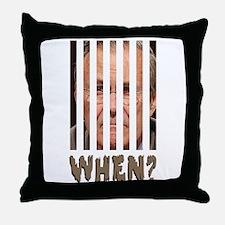 don behind bars Throw Pillow
