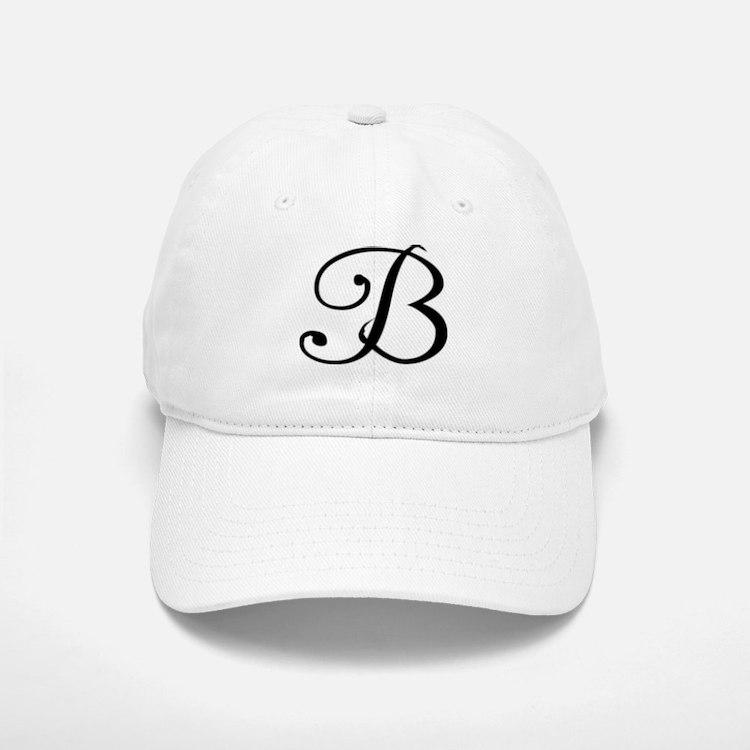 Initial B Baseball Baseball Cap
