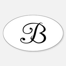 Initial B Oval Decal