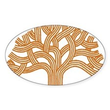 Oakland Orange Tree Oval Decal