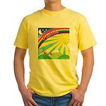 Yellow Peace Rainbow T-shirt