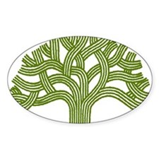 Oakland Oak Tree Oval Decal