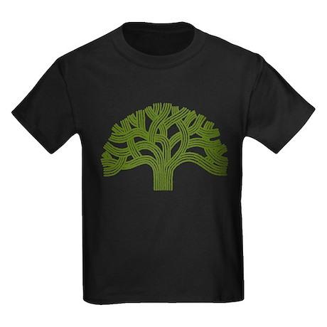 Oakland Oak Tree Kids Dark T-Shirt