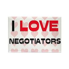I LOVE NEGOTIATORS Rectangle Magnet