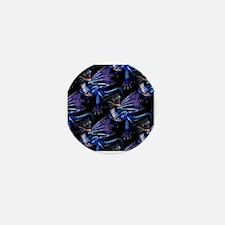 Blue Dragon At Night Mini Button