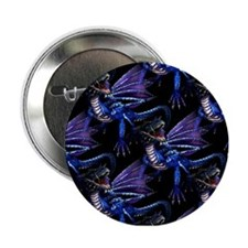 Blue Dragon At Night Button