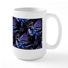Blue Dragon At Night Mug