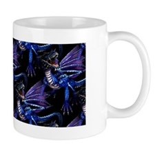 Blue Dragon At Night Mug