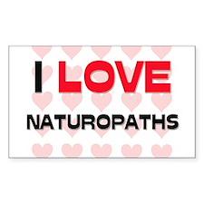 I LOVE NATUROPATHS Rectangle Decal