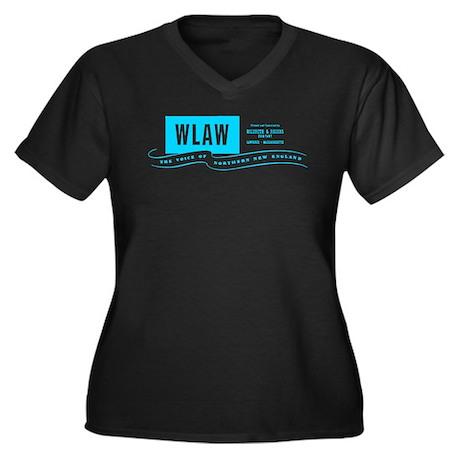 WLAW 680 Women's Plus Size V-Neck Dark T-Shirt