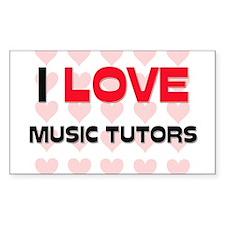 I LOVE MUSIC TUTORS Rectangle Decal