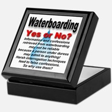Waterboarding Yes or No? Keepsake Box