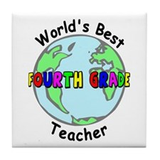 Fourth Grade Teacher Tile Coaster