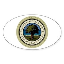 Friends of Big Foot Beach Oval Decal