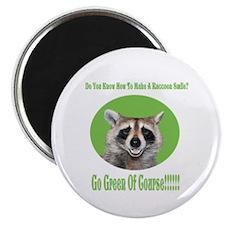 "Raccoon Go Green 2.25"" Magnet (10 pack)"