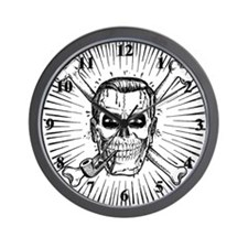 Skull Dobbs Wall Clock