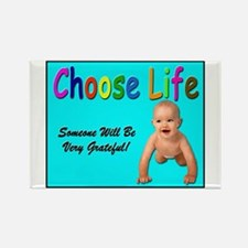 Choose Life for Pro Life Rectangle Magnet