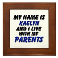 my name is kaelyn and I live with my parents Frame