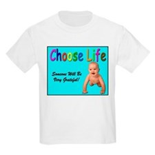Choose Life for Pro Life (Front) Kids T-Shirt