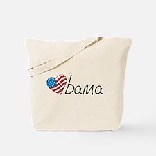 Obama USA Heart Tote Bag