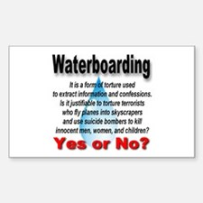 Waterboarding Yes or No? Rectangle Decal