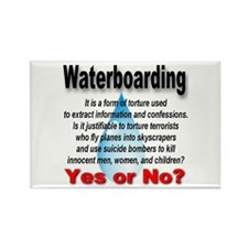 Waterboarding Yes or No? Rectangle Magnet