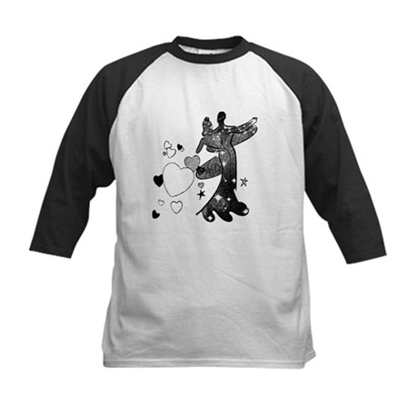 Ballroom Dancers with Hearts Kids Baseball Jersey