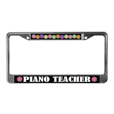 Pretty Piano Teacher License Plate Frame