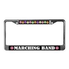 Colorful Marching Band Music License Frame