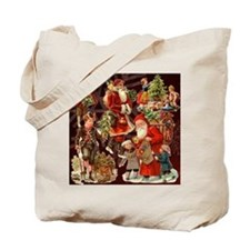 Vintage Christmas Collage Tote Bag
