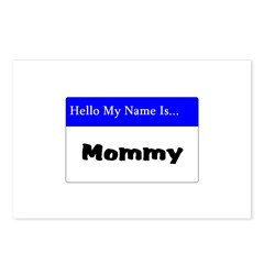 Hello my name is mommy Postcards (Package of 8)