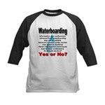 Waterboarding Yes or No? Kids Baseball Jersey