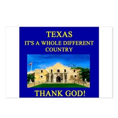 i love texas texans Postcards (Package of 8)